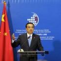 Chinese Premier Li Keqiang at the third China-Central/Eastern European (CEE) summit, 2014.