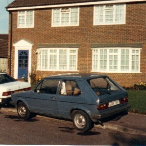 Oh, for the age of innocence... My good old blue Golf in Buckingham, 28 years ago.