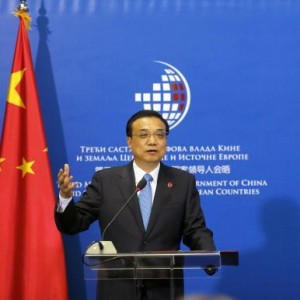 Chinese Premier Li Keqiang at the third China-Central/Eastern European (CEE) summit, 2014.