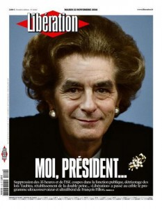 Fillon, a Thatcherite liberal? Libé cover page, 22 Nov.
