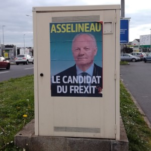 Angers, April 2017: the first time ever that the term 'Frexit' appears on a campaign poster.